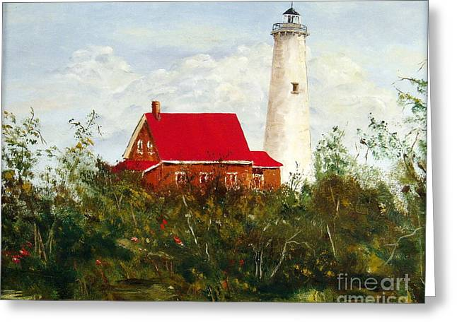 Greeting Card featuring the painting Tawas by Lee Piper