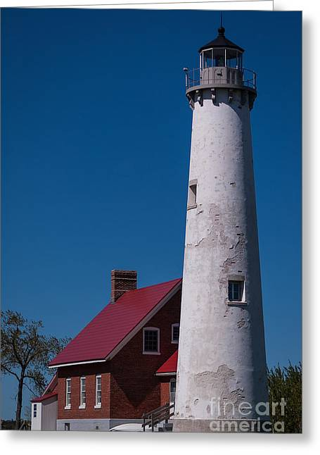Greeting Card featuring the photograph Tawas Point Lighthouse by Patrick Shupert