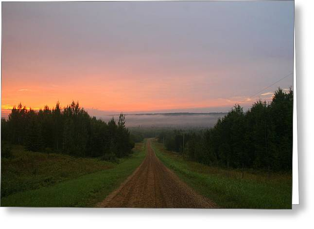 Tawatinaw Sunrise Greeting Card by Karen  Ramstead