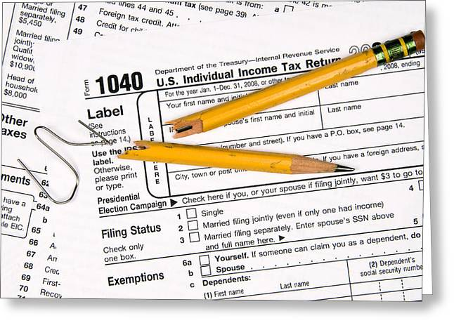 Tax Forms And Frustration Greeting Card