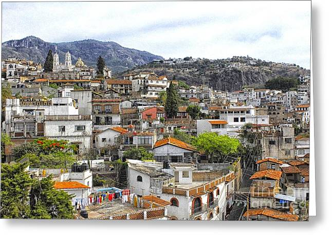 Taxco Overview 2  Greeting Card by Salvador Penaloza