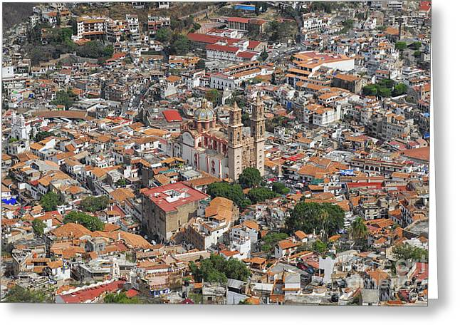 Taxco Overview  Greeting Card by Salvador Penaloza