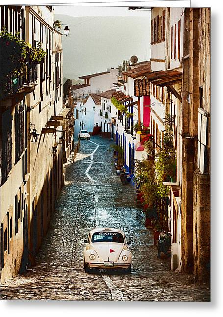 Taxco Taxi Greeting Card by Kenny Viese