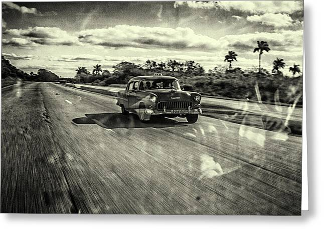 Taxi Havana Greeting Card