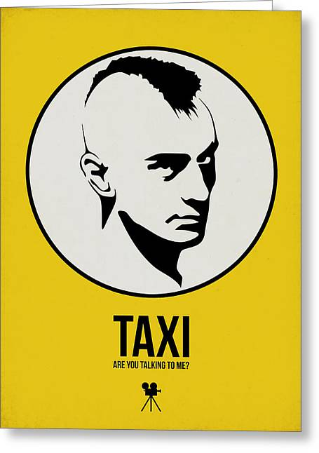 Taxi Poster 1 Greeting Card by Naxart Studio