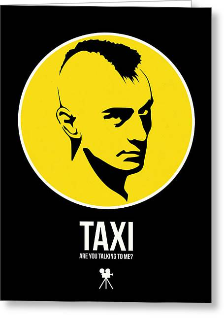 Taxi Poster 2 Greeting Card by Naxart Studio