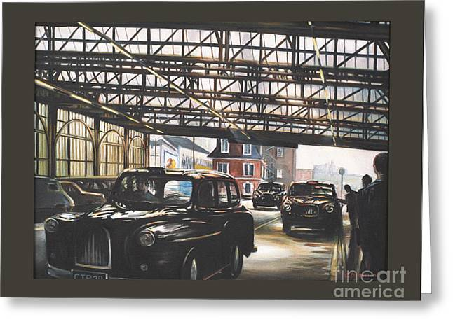 Taxi-waterloo. Greeting Card by Caroline Beaumont