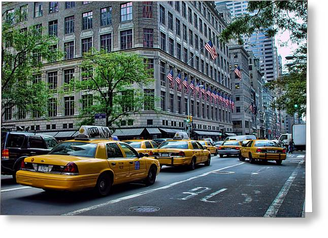 Taxicabs Of New York City Greeting Card