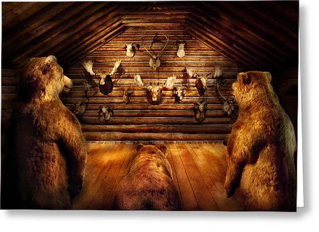 Taxidermy - Home Of The Three Bears Greeting Card