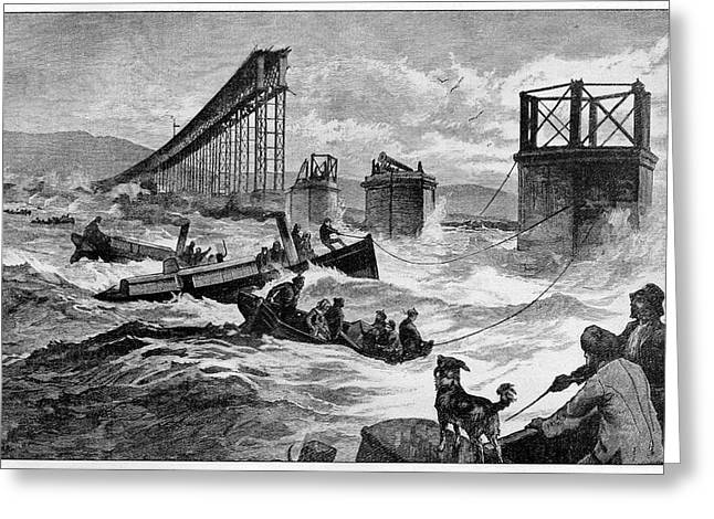 Tay Bridge Rail Crash Greeting Card
