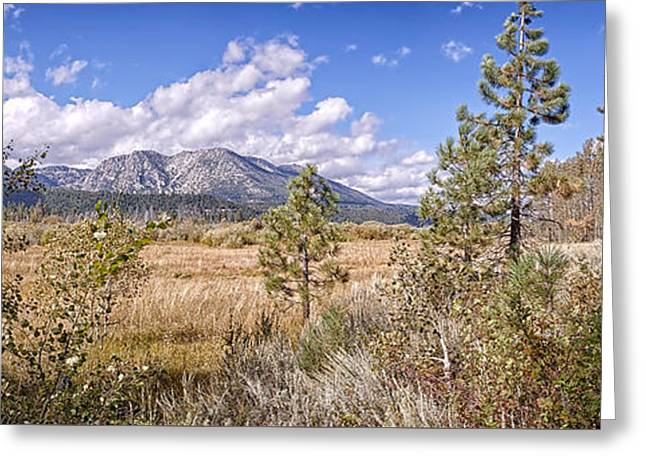 Greeting Card featuring the photograph Taylor Creek Panorama by Jim Thompson