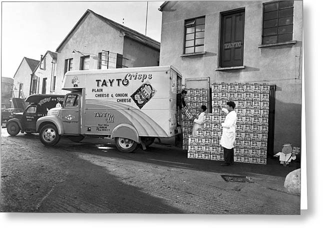Tayto Van Ireland 1958 Greeting Card by Irish Photo Archive