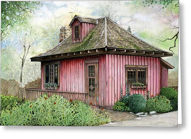 T.c. Steele Cottage Greeting Card by John Christopher Bradley