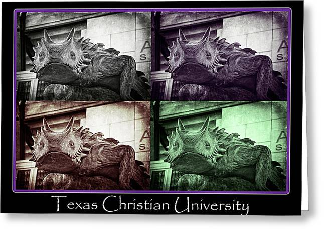Tcu Horned Frog Poster Greeting Card by Joan Carroll