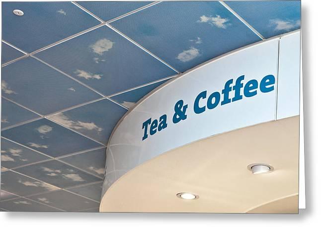 Tea And Coffee Greeting Card by Tom Gowanlock