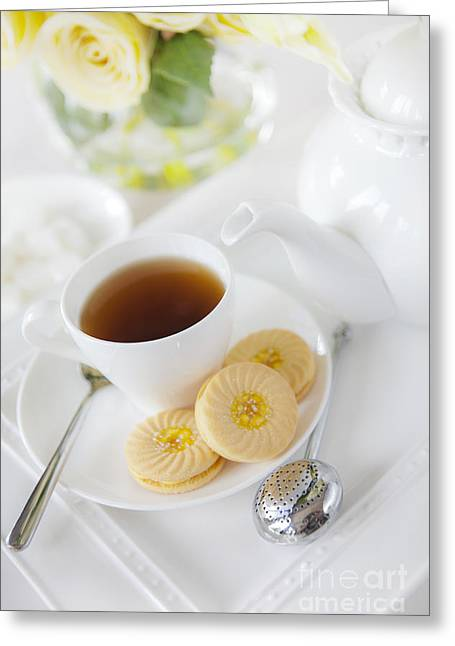 Tea And Cookies Greeting Card by Diane Diederich