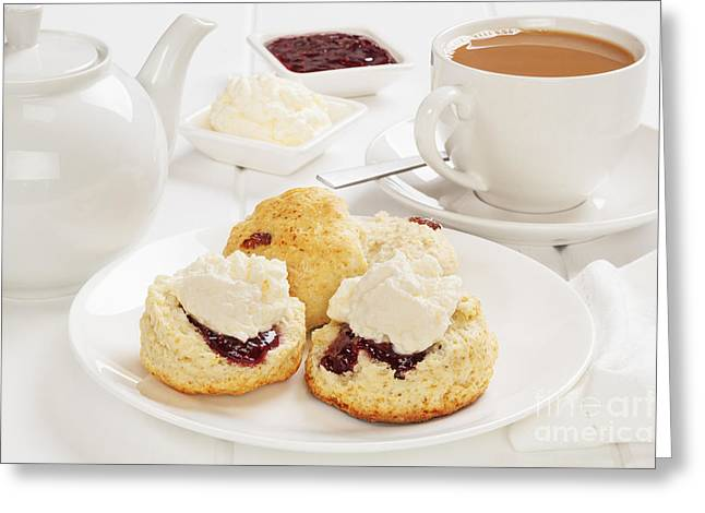 Tea And Scones Greeting Card
