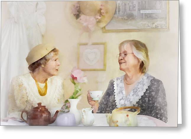 Tea And Talk Greeting Card