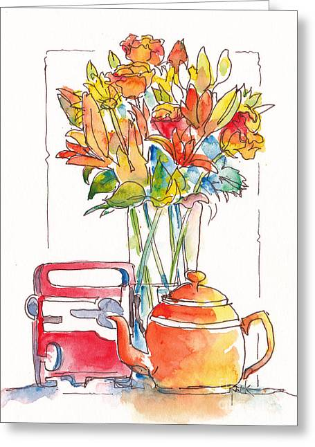 Tea And Tunes Greeting Card