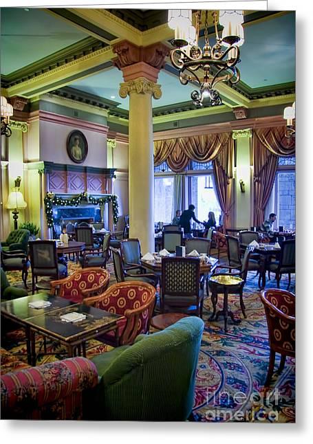 Tea At The Royal Empress Greeting Card by David Smith