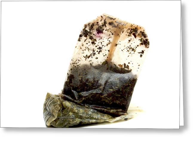 Tea Bag Greeting Card by Bernard Jaubert