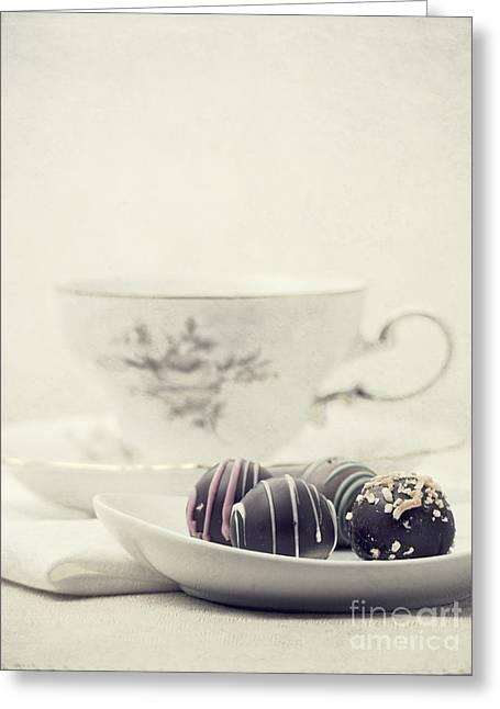 Tea Break Greeting Card by Edward Fielding
