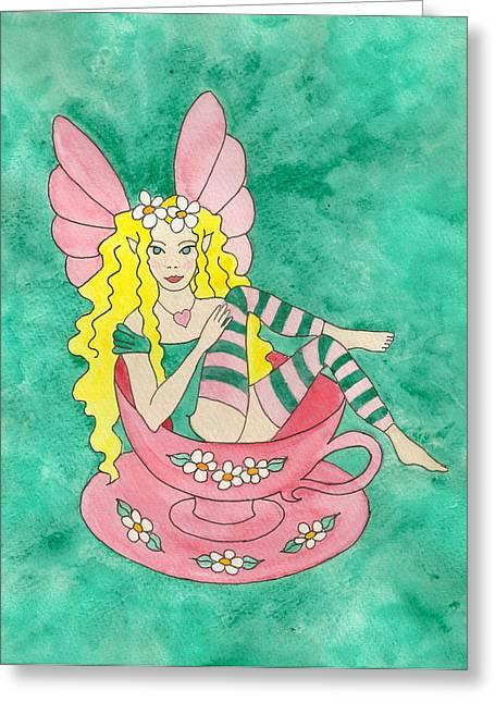 Tea Cup Fairy Greeting Card