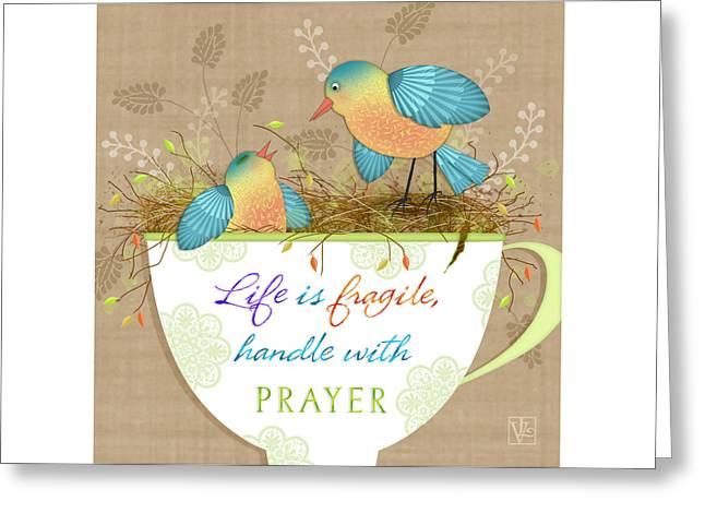 Tea Cup Wisdom Greeting Card