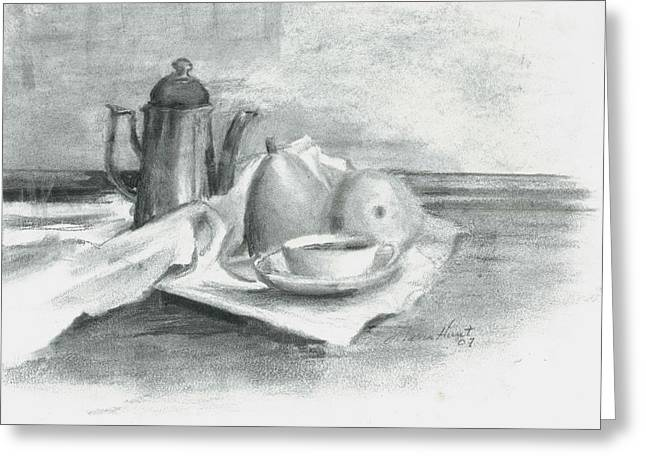 Tea For Madame Greeting Card by Maria Hunt