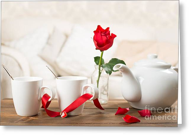 Tea For Two Greeting Card by Amanda Elwell