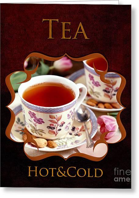Tea Gallery Greeting Card by Iris Richardson