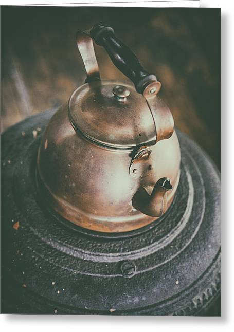 Tea Kettle Greeting Card by Karol Livote