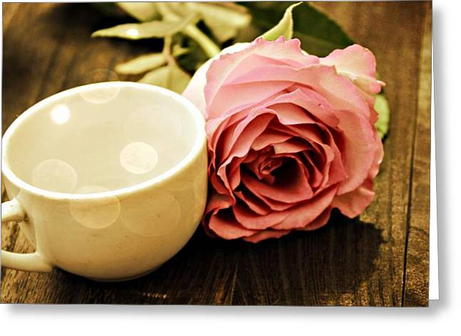 Tea Petals Greeting Card