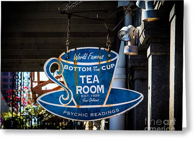 Tea Room Greeting Card by Perry Webster