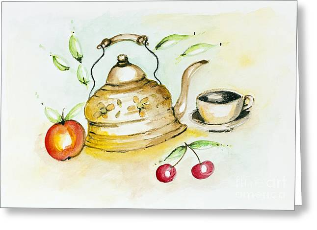 Tea Summer Ceremony Greeting Card by Irina Gromovaja