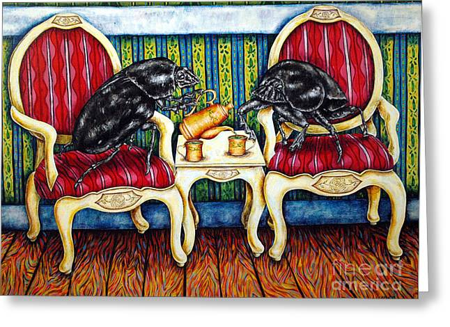 Tea Time Greeting Card by Jay  Schmetz