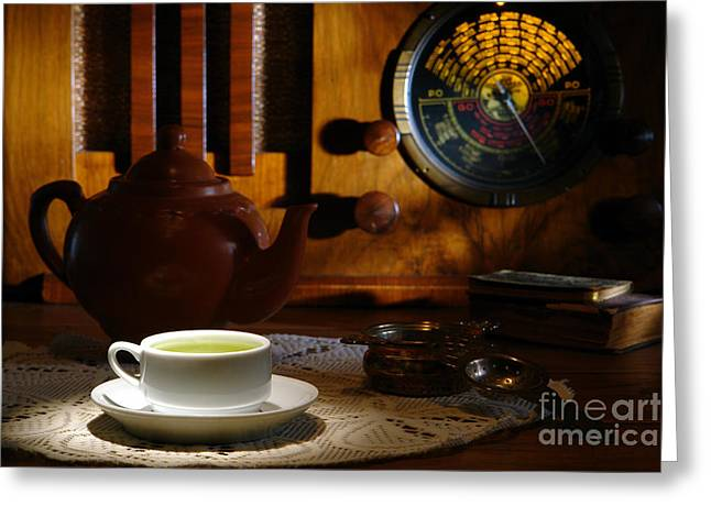 Tea Time Greeting Card by Olivier Le Queinec