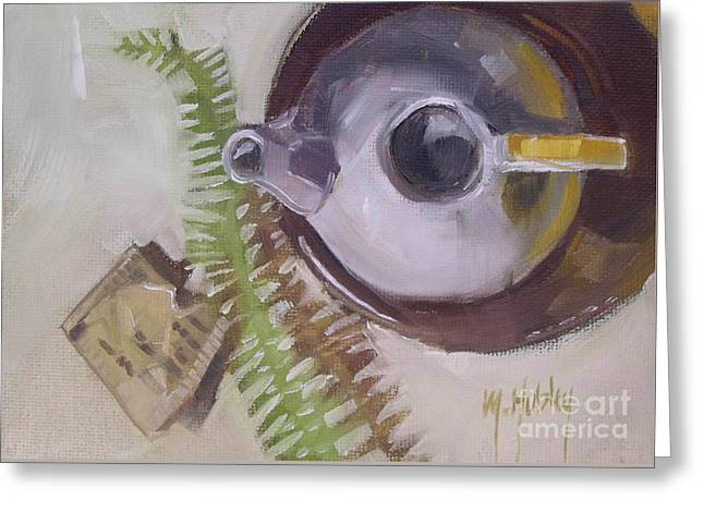 Tea Time Teapot For Afternoon Tea Parties Greeting Card