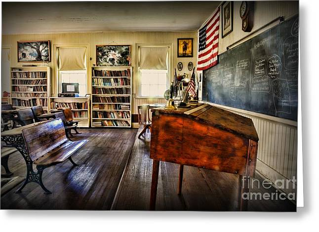 Teacher - One Room School Greeting Card by Paul Ward