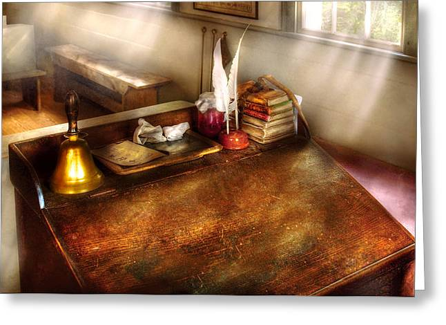 Teacher - The School Room Greeting Card by Mike Savad