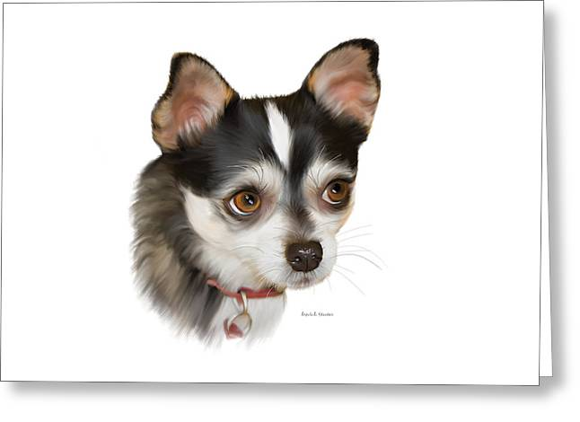 Teacup Chihuahua Greeting Card by Angela A Stanton