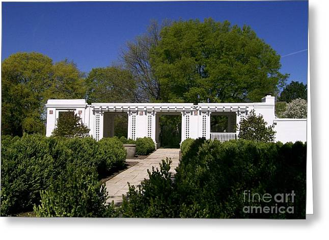 Teahouse At Hurley Gardens Greeting Card by Laurie Eve Loftin
