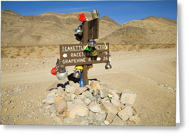 Teakettle Junction In Death Valley  Greeting Card by Yva Momatiuk and John Eastcott
