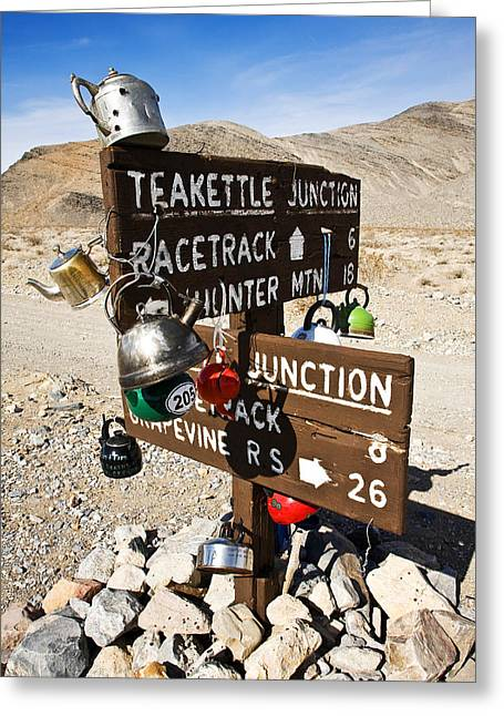Teakettle Junction Greeting Card by James Marvin Phelps