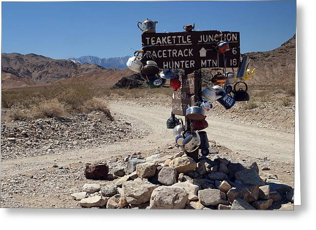 Teakettle Junction Greeting Card by Joe Schofield
