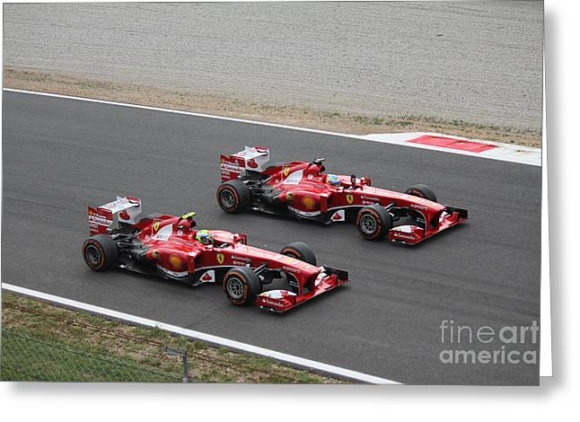 Team Ferrari Greeting Card