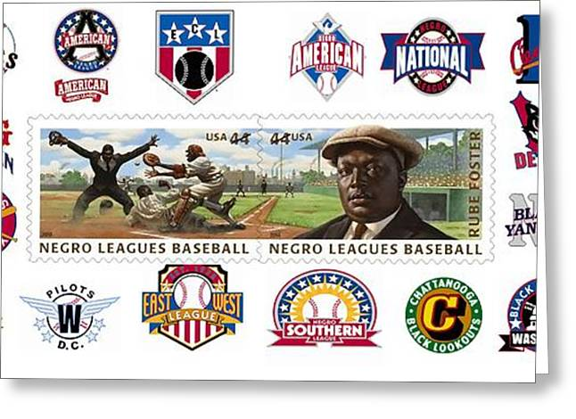 Teams Of The Negro Leagues Greeting Card by Mike Baltzgar