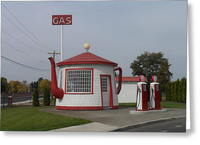 Teapot Dome Gas Station 2 Greeting Card