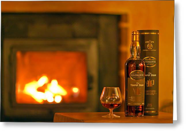 Teapot Dram - Highland Single Malt Scotch Whisky By The Famed Glengoyne Distillery Greeting Card by EXparte SE