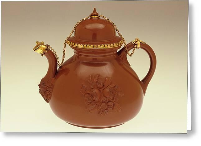 Teapot Johann Friedrich Böttger, German, 1682 - 1719 Greeting Card by Litz Collection